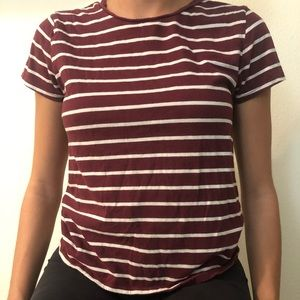 red& white stripped t-shirt from: Forever 21